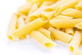 Organic yellow rigate pasta — Foto Stock