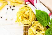 Fettuccine pasta recipe — Stock Photo