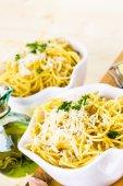 Espaguetis queso y pimienta — Foto de Stock