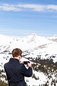 Man take pictures at Loveland pass — Foto Stock