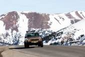 Driving to Loveland pass — Foto Stock