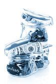 Saving money into glass jar — Stock Photo