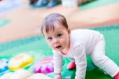 Toddler playing at the playground. — Stock Photo
