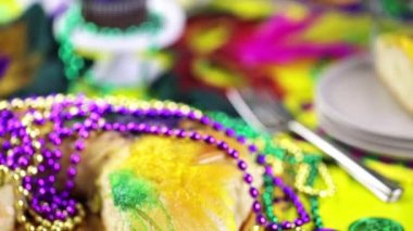 Cheese King Cake — Stock Video