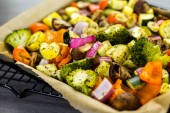 Mixed roasted vegetables — Stock Photo