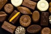 Assorted chocolates close up — Stock Photo