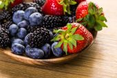Organic fresh mixed fruit — Stock Photo