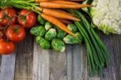 Свежие органические овощи — Стоковое фото