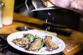 Eggplant Rotoli appetizers — 图库照片