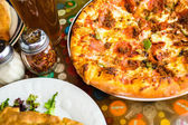 Fresh combo pizza — Stock Photo