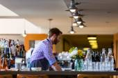 Typical Sunday at Mercantile restaurant — Stock Photo