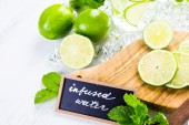 Water made with organic citruses — Stock Photo