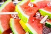 Watermelon Slice Popsicles — Stock Photo