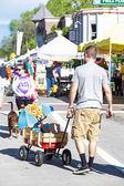 Summer farmers market — Stock Photo