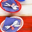 July fourth Table set — Stock Photo #75221979