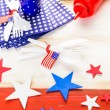 White, blue and red decorations for July 4th barbecue — Stock Photo #75224041