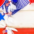 White, blue and red decorations for July 4th barbecue — Stock Photo #75224441