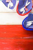 July fourth Table set — Stock Photo