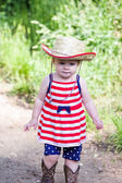 Cute little girl in the park — Stock Photo