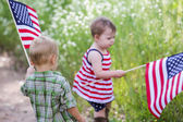 Cute little toddlers in park — Stock Photo