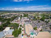 Vista aérea del mercado de agricultores — Foto de Stock