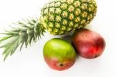 Organic tropical fruits — Stock Photo