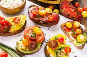 Sandwiches de tomates Heirloom — Foto de Stock