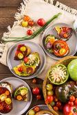 Heirloom Tomatoes sandwiches — Stock Photo