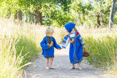 Kids in Russian costumes — Stock Photo
