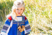 Little girl in Russian costume — Stock Photo