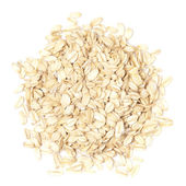 Oats on white by top view — Stock Photo