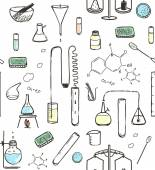 Chemical Laboratory Seamless Pattern — Stock Vector
