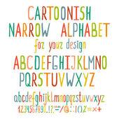 Hand Drawn Cartoon Alphabet Letters — Stock Vector
