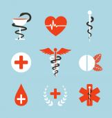 Medical Symbols Emblems and Signs Collection — Vector de stock