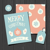 Collection de papier de Noël — Vecteur