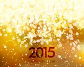 Abstract Gold New Year Background — Stock Vector