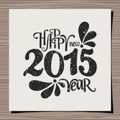 Happy New Year 2015 Greeting Card Template — Stock Vector