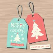 Christmas Tags Collection — Stock Vector