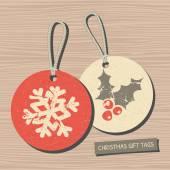 Noel etiketler koleksiyonu — Stok Vektör