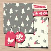 Christmas Paper Collection — Stock Vector