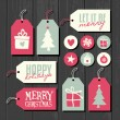 Christmas Tags Collection — Stock Vector #60588033