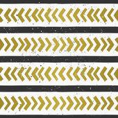 Hand Drawn Geometric Seamless Pattern — Stock Vector