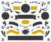 Vintage Design Elements Collection — Stock Vector
