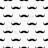 Mustaches Seamless Pattern — Stock Vector
