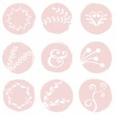 Paint Circles and Decorative Elements — Stock Vector