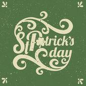 St. Patrick's Day Typographic Design — Stock Vector