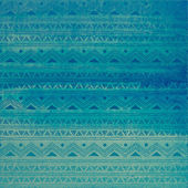 Hand Drawn Watercolor Tribal Print — Stock Vector