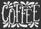 Chalkboard Style Coffee Typographic Design — Stock Vector