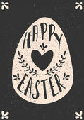 Easter Typographic Greeting Card Template — Stock Vector
