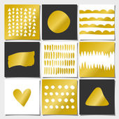 Abstract Geometric Greeting Card Templates — Stock Vector